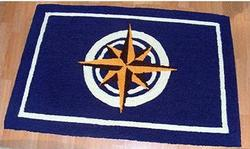 Compass Rose Washable 2 x 3 Rug