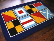 Nautical Code Flags Washable 2 X 3 Rug