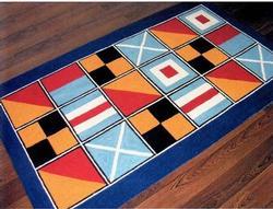 Nautical Code Flags Washable 3 x 5 Rug