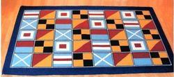 Nautical Code Flag Washable 5 x 8 Area Rug