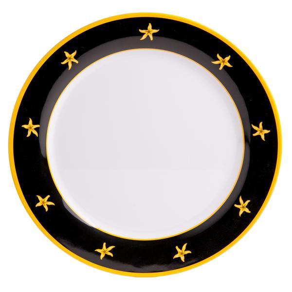 12  Platter - Black Compass  sc 1 st  Galleyware & Melamine Plates - 12