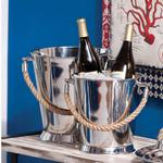 Nautical Stainless Steel Ice Buckets (Set of 2)