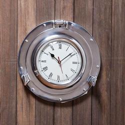 Metal Porthole Wall Clock