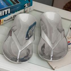 Stainless Flip Flop Trinket Dishes