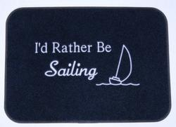 Rather Be Sailing Boat Mat