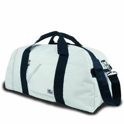 Blue Large Square Duffel Bag