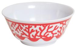 Red Coral Soup Bowl