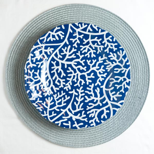 Blue Coral 11  sc 1 st  Galleyware : blue and white melamine plates - Pezcame.Com