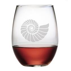 Nautilus Shell Stemless Wine Glass