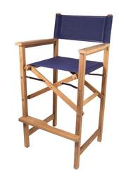 Teak Captains Folding Chair - Blue