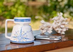 Compass Rose Ceramic Mug