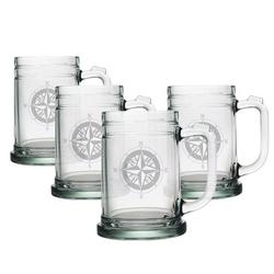 Compass Rose Tankard Beer Mugs