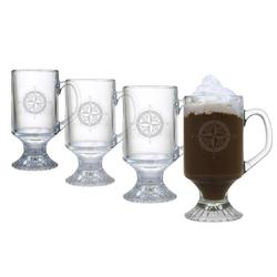 Compass Rose Footed Mugs