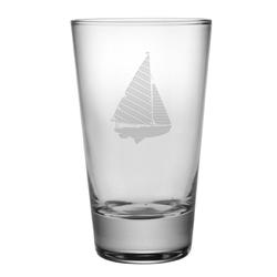 Sailboat Tapered Highball Glasses
