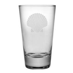 Fan Shell Tapered Highball Glasses