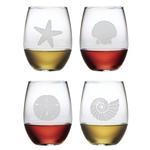 Seashore Stemless Wine Glasses