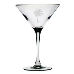 Palm Tree Martini Glasses