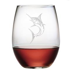 Marlin Stemless Wine Glasses