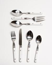 White Rivet Flatware Sets