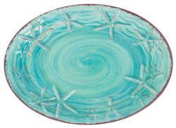 "Turquoise 14"" Raised Starfish Platter"