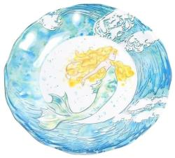 "Mermaid 9"" Salad Plate"