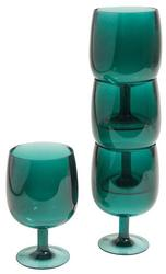 Green Nesting Wine Glasses