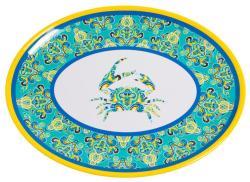 "Paisley Crab 16"" Platter"