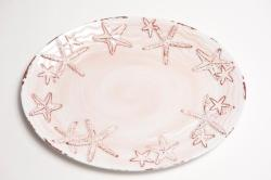 "Pink Coral 14"" Raised Starfish Platter"