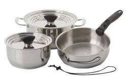 Nesting 9 Piece Stainless Steel Induction Cookware
