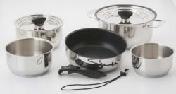 Galleyware 14-pc. Nesting Hybrid Induction Cookware Set
