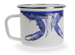Blue Crab Soup Mugs - Set of 4