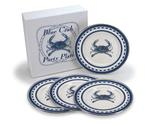 Blue Crab Party Plates - Set of 4