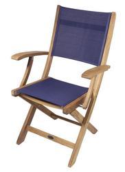 Bimini Folding Teak Deck Armchair