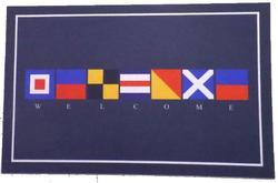 Welcome / Nautical Flags Coastal Mat