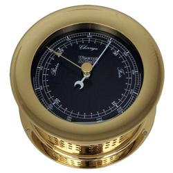 Weems & Plath Brass Atlantis Barometer Black Dial-Color Flags 200704