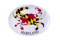 Maryland Crab State Flag Platter