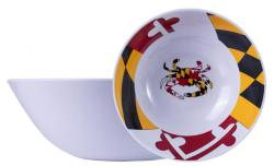 Maryland Crab State Flag Salad Bowl