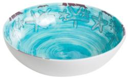 "Blue 12"" Raised Starfish Serving Bowl"