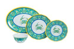 "Paisley Crab Sets with 16"" Platter"