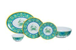 "Paisley Crab Sets with 11"" Serving Bowl & 16"" Platter"