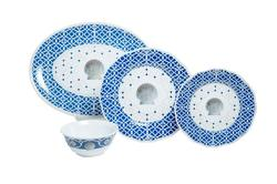 """Moroccan Shell Box Set with 16"""" Platter"""