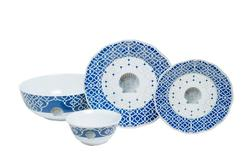 "Moroccan Shell Box Sets with 11"" Serving Bowl"