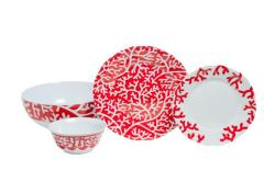 "Red Coral Box Sets with 11""Serving Bowl"