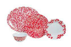 "Red Coral Box Sets with 16"" Platter"