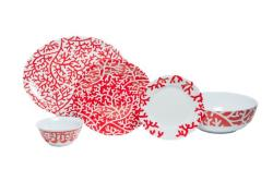 "Red Coral Box Sets with 11""Serving Bowl and 16"" Platter"