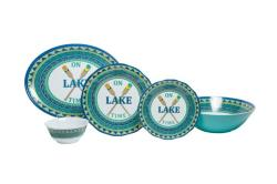 """On Lake Time Sets with Serving Bowl & 16"""" Platter"""