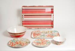 """Reef Box Sets with 11""""Serving Bowl, 16"""" Platter & 19.75"""" Tray"""
