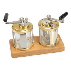 Ocean Reel Salt & Pepper Mills with Wood Base