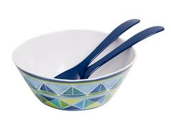 "11"" Sailin Serving Bowl with salad Servers"