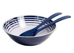 """Dockside 11 3/4"""" Serving Bowl with Salad Servers"""